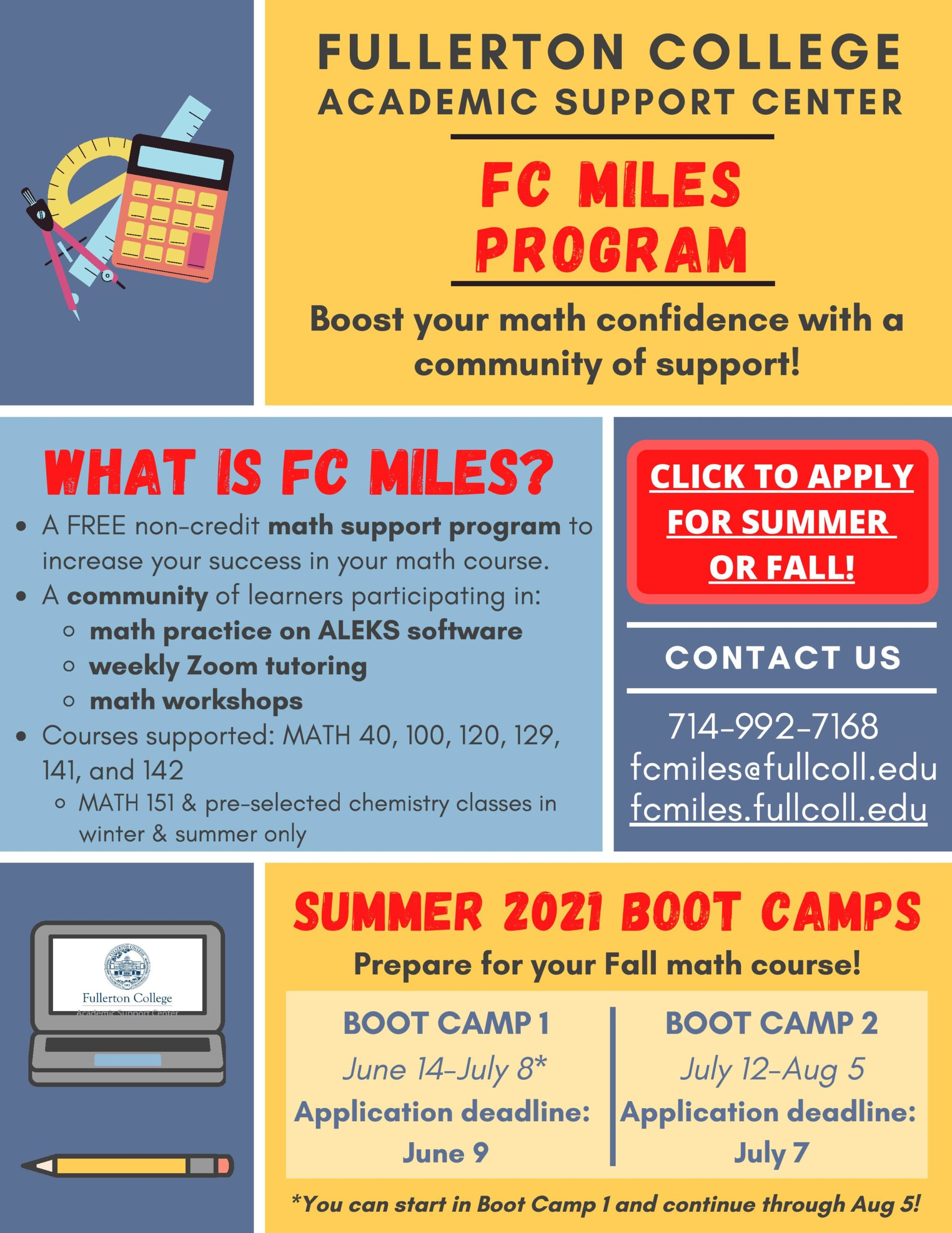 FC MILES Spring and Winter Flyer